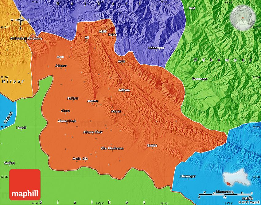 Kashmir flood India   World map  Jammu And Kashmir World Map