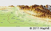 Physical Panoramic Map of Jammu