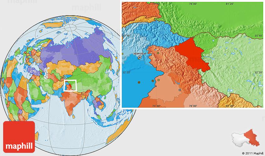 Political location map of ladakh leh gumiabroncs Images