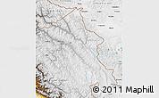 Physical Map of Ladakh (Leh)