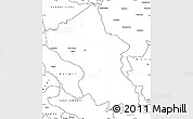 Blank Simple Map of Ladakh (Leh)