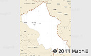Classic Style Simple Map of Ladakh (Leh)