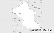 Silver Style Simple Map of Ladakh (Leh)
