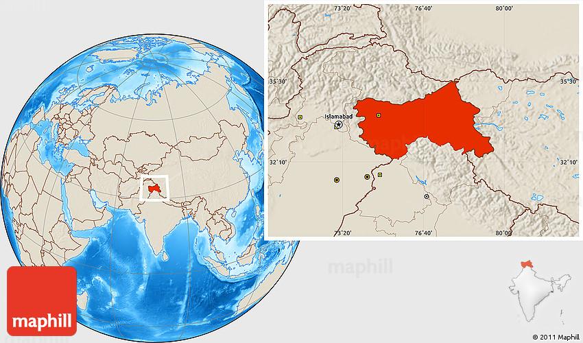 JAMMU & KASHMIR   Map of India Tourist Map of India Map of ...  Jammu And Kashmir World Map