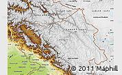 Physical Map of Jammu and Kashmir