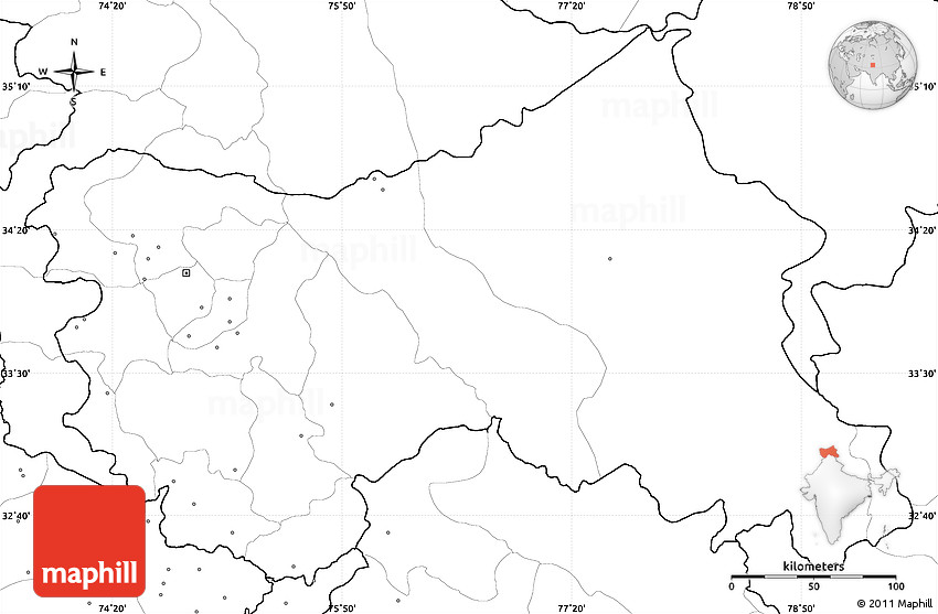 Blank simple map of jammu and kashmir no labels gumiabroncs Choice Image