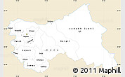 Classic Style Simple Map of Jammu and Kashmir, single color outside