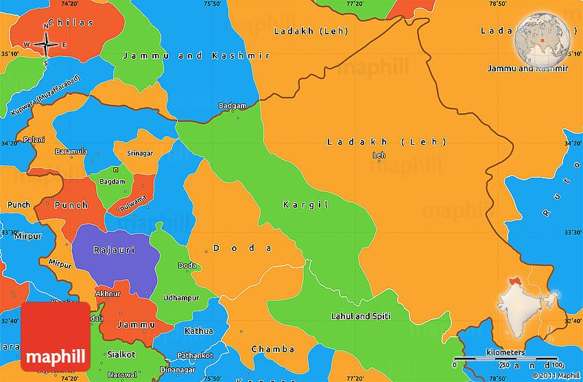 Atlas of Kashmir - Wikimedia Commons  Jammu And Kashmir World Map
