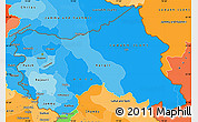 Political Shades Simple Map of Jammu and Kashmir