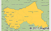 Savanna Style Simple Map of Jammu and Kashmir