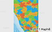 Political 3D Map of Karnataka