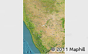 Satellite 3D Map of Karnataka