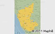 Savanna Style 3D Map of Karnataka