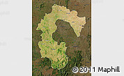 Satellite Map of Bangalore Rural, darken