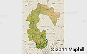 Satellite Map of Bangalore Rural, shaded relief outside