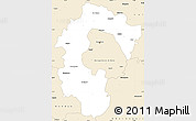 Classic Style Simple Map of Bangalore Rural