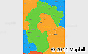 Political Simple Map of Bangalore Rural