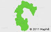 Political Simple Map of Bangalore Rural, single color outside