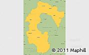 Savanna Style Simple Map of Bangalore Rural