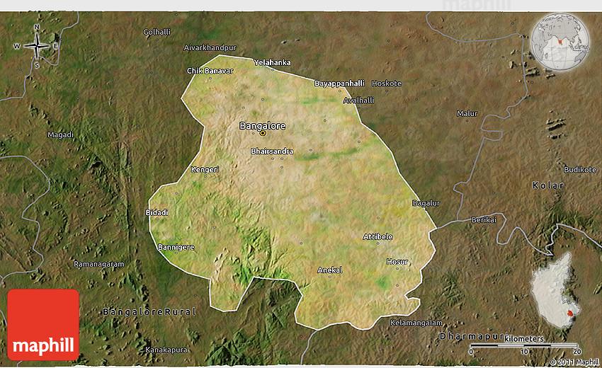 satellite map of bangalore Satellite 3d Map Of Bangalore Urban Darken satellite map of bangalore