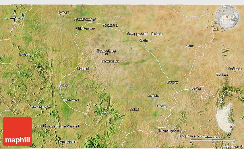 satellite map of bangalore Satellite 3d Map Of Bangalore Urban satellite map of bangalore