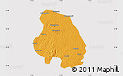 Political Map of Bangalore Urban, cropped outside