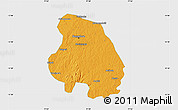 Political Map of Bangalore Urban, single color outside