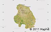 Satellite Map of Bangalore Urban, cropped outside