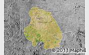 Satellite Map of Bangalore Urban, desaturated
