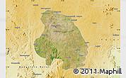 Satellite Map of Bangalore Urban, physical outside