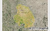 Satellite Map of Bangalore Urban, semi-desaturated
