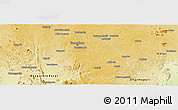 Physical Panoramic Map of Bangalore Urban