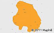 Political Simple Map of Bangalore Urban, single color outside