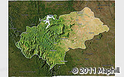 Satellite 3D Map of Chikmagalur, darken