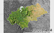 Satellite 3D Map of Chikmagalur, desaturated