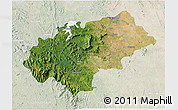 Satellite 3D Map of Chikmagalur, lighten