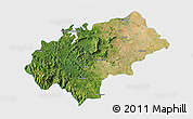 Satellite 3D Map of Chikmagalur, single color outside