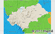 Shaded Relief 3D Map of Chikmagalur, political outside
