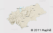 Shaded Relief 3D Map of Chikmagalur, single color outside