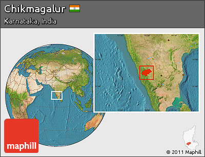 Satellite Location Map of Chikmagalur