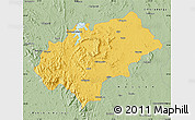 Savanna Style Map of Chikmagalur