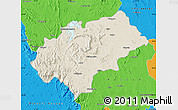Shaded Relief Map of Chikmagalur, political outside