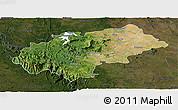 Satellite Panoramic Map of Chikmagalur, darken