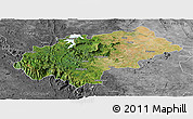 Satellite Panoramic Map of Chikmagalur, desaturated
