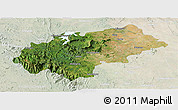 Satellite Panoramic Map of Chikmagalur, lighten