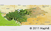 Satellite Panoramic Map of Chikmagalur, physical outside