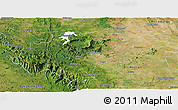 Satellite Panoramic Map of Chikmagalur