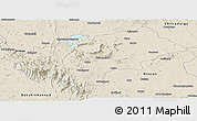Shaded Relief Panoramic Map of Chikmagalur