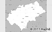 Gray Simple Map of Chikmagalur