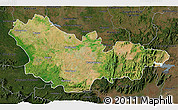 Satellite 3D Map of Mysore, darken
